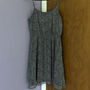 Loft Elastic Waist Patterned Dress